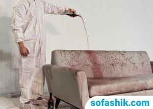 پاک کردن لکه رنگ از مبل